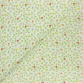 Cretonne cotton fabric - white Hippopo x 10cm