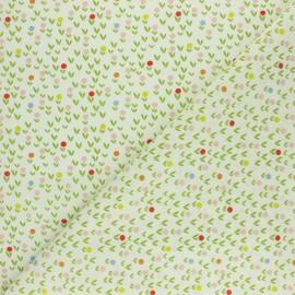 Tissu coton cretonne Hippopo - blanc x 10cm