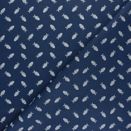 Tissu coton cretonne Mistigri - bleu gris x 10cm