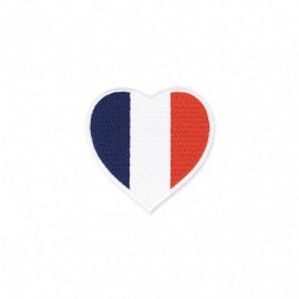 Thermocollant Coeur Tricolore