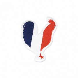 Heart Shaped French Flag Iron-on