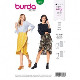 Skirt Sewing Fabric Burda n°6200