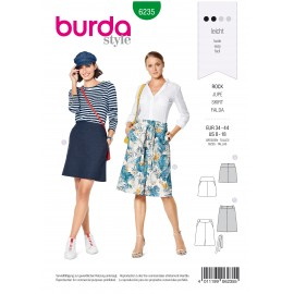 Skirt Sewing Fabric Burda n°6235