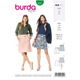 Skirt Sewing Fabric Burda n°6241