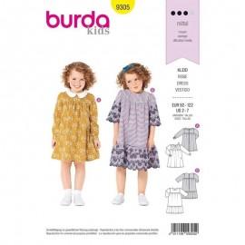 Patron  Robe col Claudine  Burda Kids N°9305