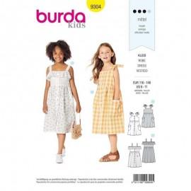 Patron  robe nouée aux bretelles  Burda Kids N°9304