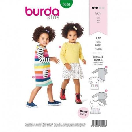Patron  robe manches longues Burda Kids N°9296