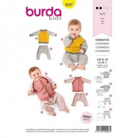 Coordinate wardrobe for babies Sewing Pattern Burda n°9297