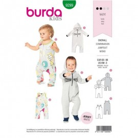 Patron jumpsuit for babies Burda n°9299