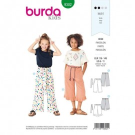 Patron Enfant Pantalon large Burda N°9302