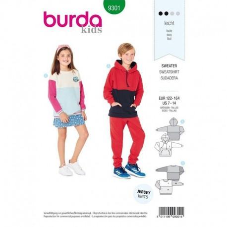 Patron pull enfant Burda N°9301