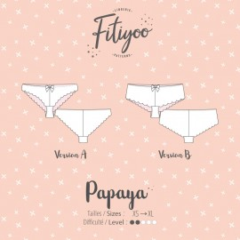 Fitiyoo Sewing Pattern - Papaya Tanga and Shorts