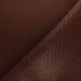 Simili cuir tressé - tabac x 10cm