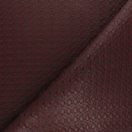 Braided Leather Imitation - Burgundy Manica x 10cm