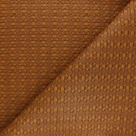 Braided Leather Imitation - Ochre Manica x 10cm