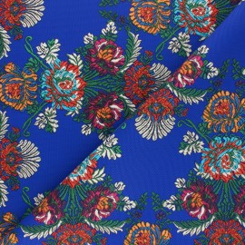 Patterned Leather Imitation fabric - Royal blue Elisabeth x 10cm