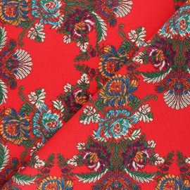 Simili cuir à motifs Elisabeth - bleu roy x 10cm