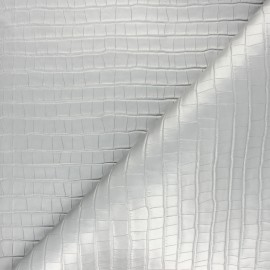Imitation leather Croco soft - silver x 10cm