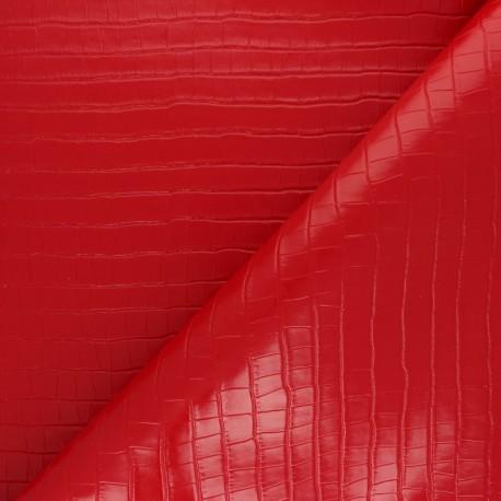 Crocodile skin Imitation leather fabric - orange Florida x 10cm