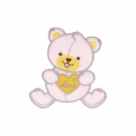 Sweet Night Iron-on - Pink Bear Cub