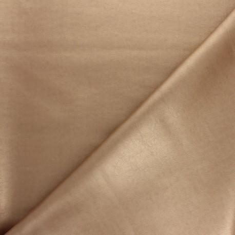 Imitation leather - golden x 10cm