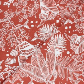Linen and viscose fabric - Khaki green Printemps x 10cm