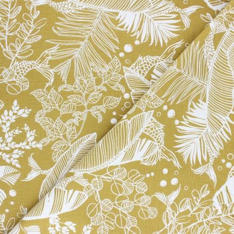 Linen and viscose fabric - orange Jakarta x 10cm