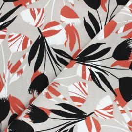 Tissu lin et viscose Jakarta - orange x 10cm