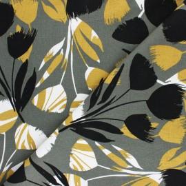 Linen and viscose fabric - orange Surabaya x 10cm