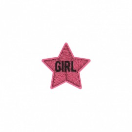 Sparkly Iron-on Patch - Girl