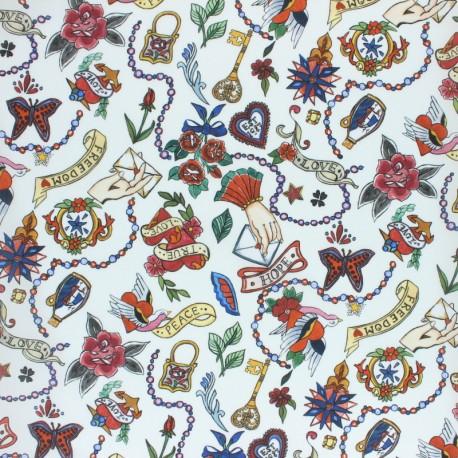 Tissu Liberty - Love Letters A x 10cm