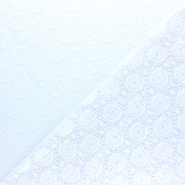 Lace Fabric - white Romane x 10cm
