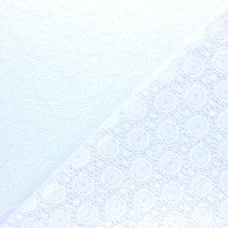 Tissu Dentelle Romane - noir x 10cm