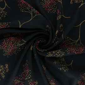 Viscose Fabric - Black Arbola x 10cm