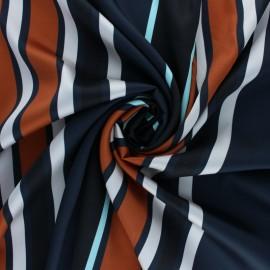 Tissu satin Caramila - marron x 50cm