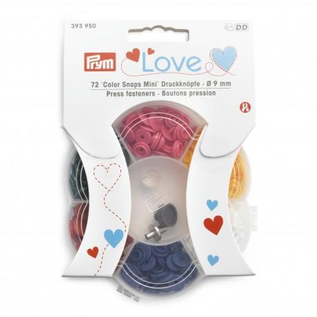 9 mm Press fasteners Color Snaps Mini incl. tools set Prym Love