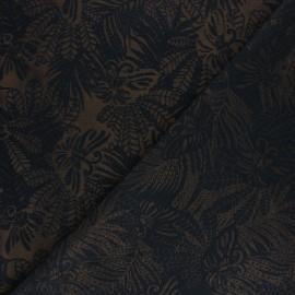 Tissu Jacquard Flying Creature - noir x 10 cm