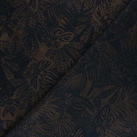 Lurex Jacquard fabric - Black Flying Creature x 10cm