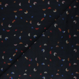 Lurex Jacquard fabric - Blue Pacmito x 10cm