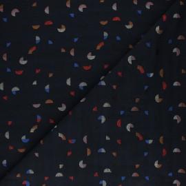 Tissu Jacquard Pacmito - bleu x 10 cm