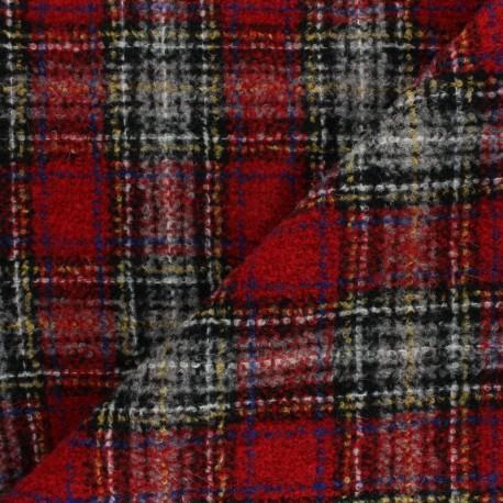 Checked virgin Wool fabric - Pink Umbridge  x 10cm