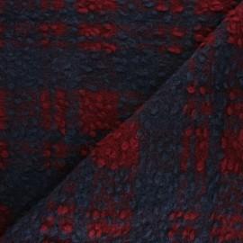 ♥ Coupon 110 cm X 150 cm ♥ Tissu Lainage à carreaux Margaret - bleu