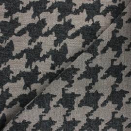 Tissu Lainage pied de poule Beth - beige x 10cm
