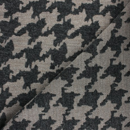 Checked virgin Wool fabric - Red Watson x 10cm