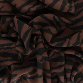Tissu Viscose Zebrown - Marron x 10cm