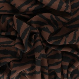 Viscose Fabric - Brown Zebrown x 10cm
