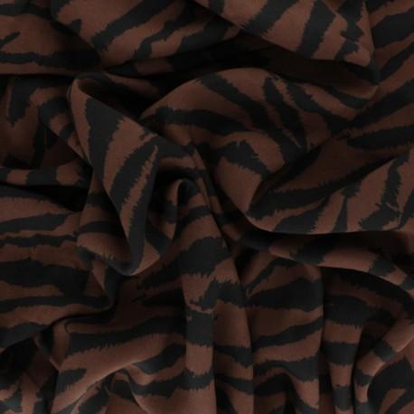 Viscose Fabric - Brown Zebrown x 10cm