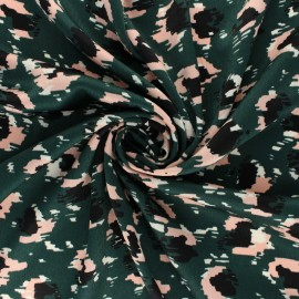 ♥ Coupon 15 cm X 145 cm ♥ Viscose Fabric - Green Pinkleo