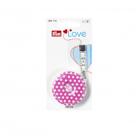 Retractable Measuring Tape Prym Love - Fuchsia