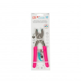 Prym Love Pliers for press fasteners, eyelets and rivets - Fuchsia